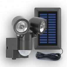 Solar-LED Spot LPL 858 mit Bewegungsmelder. Separates Solarmodul, inklusive Akku-Pack.