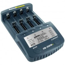 Accu Power IQ328+ Universal Schnellladegerät für Li-Ion/NiCd/NiMH-Akkus