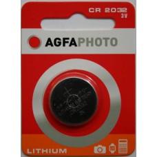 AGFAPHOTO CR2032 3V Lithium im 1er-Blister