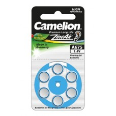 "Camelion A675 Hörgeräteknopfzelle in 6er-Blister ""No Mercury"""