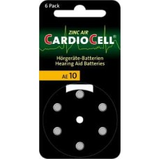 CARDIOCELL AE10 (ZL4/PR70) für Hörgeräte 1,45V 100mAh (Varta)