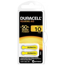 DURACELL HEARING AID DA10 (ZL4) Hörgeräte-Knopfzellen  1,4V in 6er-Blister