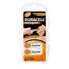 Duracell DA13  (ZL2, PR48) Hörgeräte-Knopfzellen Easy Tab 1,4V