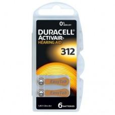 60 x Duracell ActivAir Typ 312 Hörgerätebatterien 10 x 6er-Blister 1,45V Braun