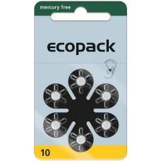 ECO 10 (PR70) Hörgeräteknopfzellen Mercury Free 1,45V 95mAh VPE: 60 Stück