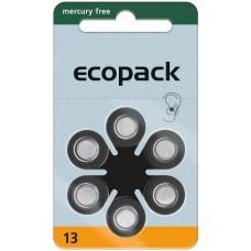 ECO 13 (PR48) Hörgeräteknopfzellen Mercury Free 1,45V 285mAh VPE: 60 Stück