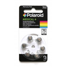 60x Polaroid Medical+ 312 Hörgeräte-Knopfzellen 170 mAh 1,45V