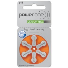 60x POWER ONE 13AE Hörgeräte-Knopfzellen 300mAh
