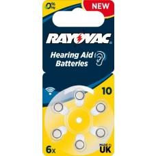 Rayovac 10 ACOUSTIC (ZL4/PR70) Hörgeräteknopfzellen 1,45V 105mAh