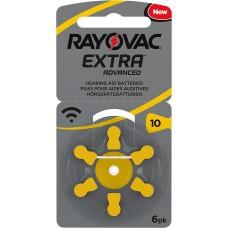 Rayovac 10  EXTRA ADVANCED (ZL4/PR70) Hörgeräteknopfzellen 1,4V 105mAh