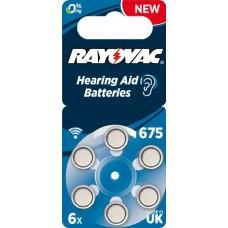 Rayovac 675  ACOUSTIC (ZL1/PR44) Hörgeräteknopfzellen 1,45V 640mAh