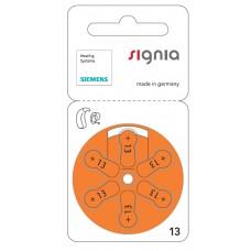 60 x Siemens Signia Typ 13 Orange 1,45V Hörgeräte Batterien 10 x 6er Blister