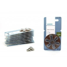 60x Siemens signia S312 Zink Luft PR41 ZL3 Hörgerätebatterie im 6er-Blister