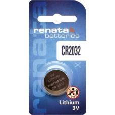 1 x Renata CR 2032 3V Lithium Batterie Knopfzelle 225mAh Blister