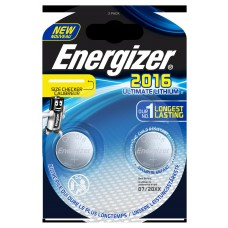 5x Energizer CR2016 3V Ultimate Lithium in 2er-Blister