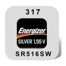 Energizer 317 (SR62/SR516SW) Uhrenbatterie 1,55V Silveroxid in 1er-Miniblister