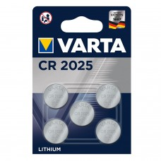 Varta CR2025 6025 101 415 3V Lithium in 5er-Blister 157mAh
