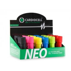"24er-Display CardioCell ""NEO"" LED-Taschenlampen 9 LED"