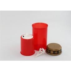 LED-Grablicht rot mit flackerndem Kerzenschein inkl. 2x AA im 19er-Display