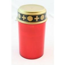 LED-Grablicht rot mit flackerndem Kerzenschein mit Batterien Superlife Varta 2014