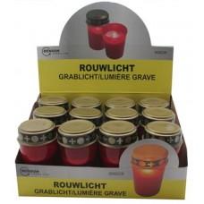 LED-Grablicht rot mit flackerndem Kerzenschein ohne Batterien im 12er-Display