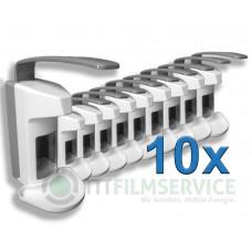 10x Wandspender Basic Line aus Kunststoff mit Edelstahlpumpe 500ml Nr. 3030160C