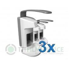 3x Wandspender Basic Line aus Kunststoff mit Edelstahlpumpe 500ml Nr. 3030160C