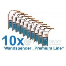 "10x Wandspender ""Premium Line"" aus Metall mit Edelstahlpumpe Nr. 3030120C"