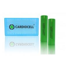 2 x LG INR18650MJ1 - 3500mAh 3,6V - 3,7V Lithium-Ionen-Akku mit CardioCell Box