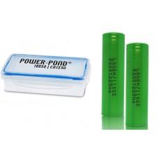 2 x LG INR18650MJ1 - 3500mAh 3,6V - 3,7V Lithium-Ionen-Akku mit Power Pond Box