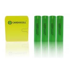 4 x LG INR18650MJ1 - 3500mAh 3,6V - 3,7V Lithium-Ionen-Akku mit CardioCell Box