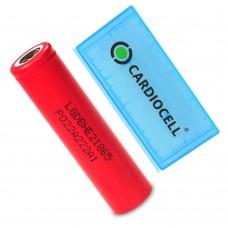 1x LG HE2 18650HE2 Li-Ion 2500mAh 20A 3,6V LGDBHE21865, inkl. Cardiocell Akkubox