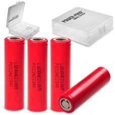 "4x LG HE2 18650HE2 Li-Ion 2500mAh 20A 3,6V LGDBHE21865 inkl. Akkubox ""POWER-POND"""