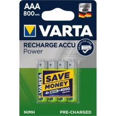 Varta Micro-Akku 56703 101 404 (800mAh) 1,2V Ready2use in 4er-Blister