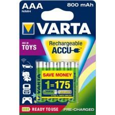 Varta Micro-Akku 56783 101 404 (800mAh) 1,2V Ready2use in 4er-Blister