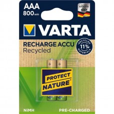 Varta Micro Akku 56813 101 402 (800mAh) Recycled 1,2V in 2er-Blister