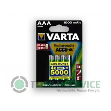 4x Varta Micro-Akku 5703 301 404 (1000mAh) 1,2V im Blister