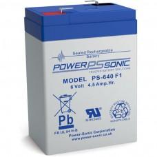 Powersonic PS 640 Blei-Vlies Akku 6V 4,5Ah mit 4,8mm Faston