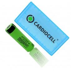 1x Panasonic NCR18650B Li-Ionen Akku 3,7V 3400mAh inkl. Cardiocell Box