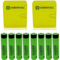 8x Panasonic NCR18650B Li-Ionen Akku 3,7V 3400mAh inkl. Cardiocell Box