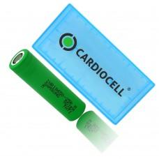1x Samsung INR18650 25R 2500mAh 3,7V, Lithium Ionen Akku inkl. Cardiocell Akkubox