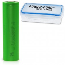 """1 x Sony US18650VTC5 Lithium Ionen 30A 2600mAh inkl. staubdichter und wetterfester Akkubox """"POWER-POND"""""""