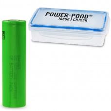 "1 x Sony US18650VTC4 30A 2100mAh inkl. staubdichter und wetterfester Akkubox ""POWER-POND"""