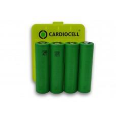 4x Sony Konion US18650VTC4, 3,7V, 2100mAh, 30A, 18650 inkl. Cardiocell Box