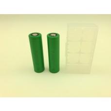 2x Sony US18650VTC5A Lithium Ionen 18650 35A  2600mAh mit Box