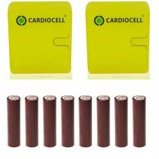8x LG ICR 18650HG2 Li-Ion 3000mAh 20A LGDBHG21865 mit Cardiocell Boxen