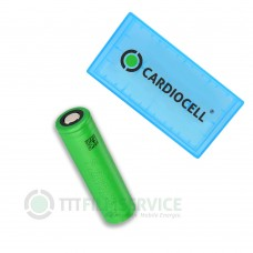 1x Sony US18650VTC6 Lithium Ionen 18650 30A 3120mAh mit Cardiocell Box