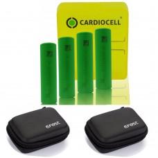 4x Sony US18650VTC6 Lithium Ionen 18650 30A 3120mAh inkl. Cardiocell Box und 2x Efest Zipper Case