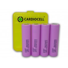4x Samsung ICR18650-26F 2600mAh Lithium Ionen inkl. 4er Cardiocell Box