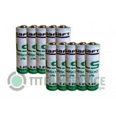 10x Saft Mignon AA LS14500 Lithium 3,6V 2600mAh